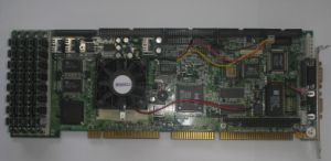 Crystal SBC, CPU PII-266MHz/MMX Socket7, 128MB RAM (SIMM), chipset Intel HX, IDE controller up to 4 ATA/33 devices, SCSI controller Adaptec AIC-7880P 68-pin & 50-pin, VGA 2MB, OEM (одноплатный промышленный компьютер)